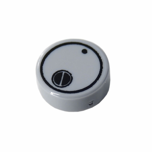 1x1 Canister Lid - Light Grey