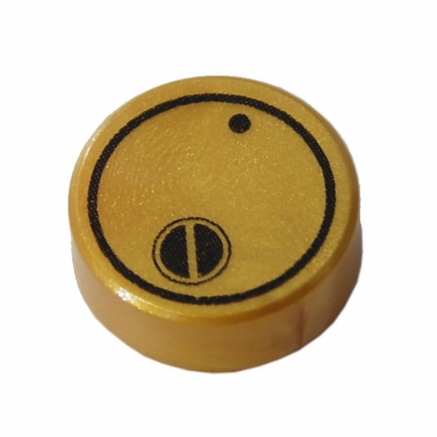 1x1 Canister Lid - Pearl Gold