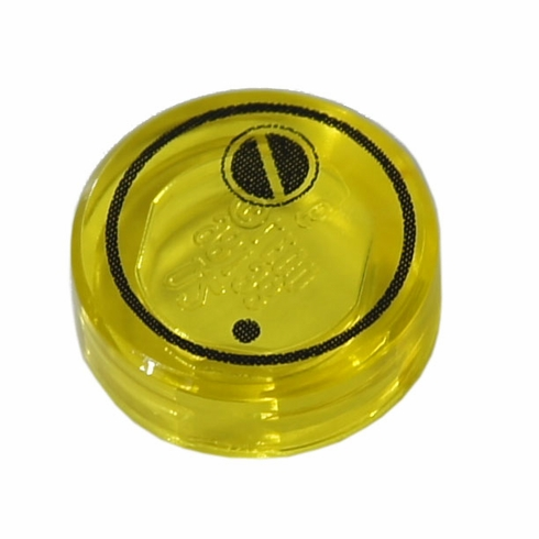 1x1 Canister Lid - Trans Yellow