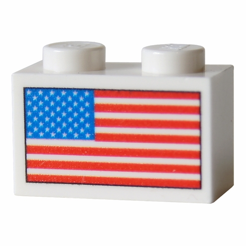 USA Flag Brick