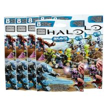 2015 Halo Mega Bloks BRAVO Series SIX [6] Pack Bundle of Mystery Figure Packs