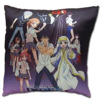 A Certain Magical Index - Group Shot Square Pillow RETIRED