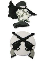 Afro Samurai Justice Pistols Pin Set RETIRED