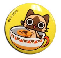 Airou From The Monster Hunter - Airou Teacup Button Pre-Order
