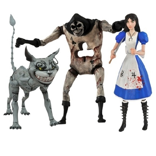 Set of 3 Alice Madness Returns Action Figures