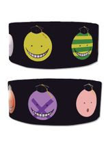 Assassination Classroom - Koro Sensei Faces Pvc Wristband Pre-Order