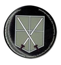 Attack On Titan - 104Th Trainees Squad Emblem Button Pre-Order