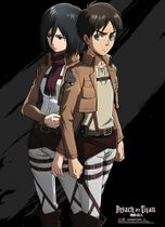 Attack On Titan - Eren And Mikasa Wallscroll Pre-Order