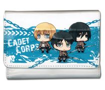 Attack On Titan - Eren, Armin & Mikasa Sd Girl Wallet Pre-Order
