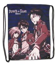 Attack On Titan - Eren, Levi & Armin Drawstring Bag Pre-Order