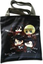 Attack On Titan - Eren & Levi & Armin & Mikasa Sd Bag Pre-Order