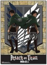 Attack On Titan - Eren & Levi Special Edition Wallscroll Pre-Order
