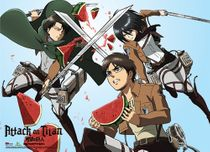 Attack On Titan - Eren, Mikasa And Levi Watermelon Fight Special Edition Pre-Order