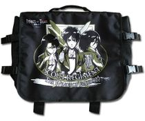 Attack On Titan - Eren, Mikasa & Levi Messenger Bag Back Order