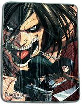 Attack On Titan - Eren & Mikasa Sublimation Throw Blanket Pre-Order