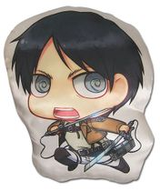 Attack On Titan - Eren Sd Plush Pillow Back Order