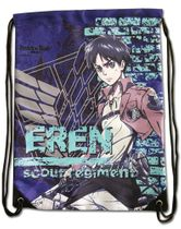 Attack On Titan - Eren Violet Drawstring Bag Pre-Order
