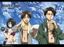 Attack On Titan - Fitness Group Wallscroll Pre-Order