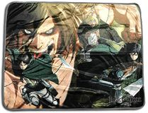 Attack On Titan - Group Fight Sublimation Throw Blanket Pre-Order