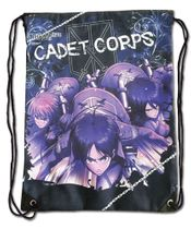 Attack On Titan - Group Navy Blue Drawstring Bag Pre-Order