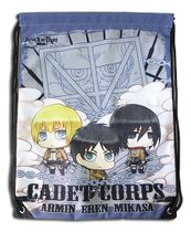 Attack On Titan - Group Purple Drawstring Bag Pre-Order