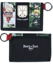 Attack On Titan - Group Sd Camo Wallet Pre-Order