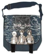 Attack On Titan - Group & Wall Messenger Bag Pre-Order
