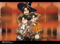 Attack On Titan - Halloween Group Special Edition Wallscroll Pre-Order