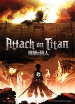 Attack On Titan - Key Art Fabric Poster Back Order
