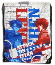 Attack On Titan - Levi & Eren White Drawstring Bag Pre-Order
