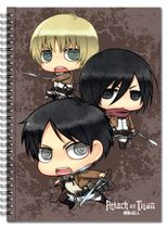 Attack On Titan - Main 3 + Titan Spiral Notebook RETIRED