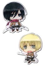 Attack On Titan - Mikasa And Armin Metal Pins Pre-Order
