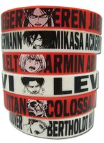 Attack On Titan - Multi Pack Pvc Wristband Pre-Order
