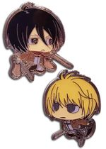 Attack On Titan S2 - Sd Mikasa & Armin Pins Pre-Order