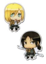 Attack On Titan - Sd Christa & Ymir Metal Pins Pre-Order