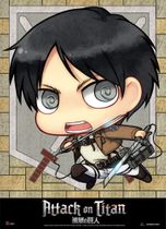 Attack On Titan - Sd Eren Wallscroll Pre-Order