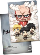 Attack On Titan - Sd Group File Folder (5 Pcs/Pack) Pre-Order