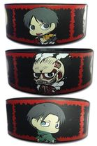 Attack On Titan - Sd Group Panels Pvc Wristband Pre-Order