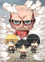 Attack On Titan - Sd Group Wallscroll Pre-Order