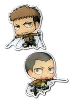 Attack On Titan - Sd Jean & Conny Metal Pins Pre-Order