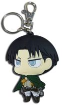 Attack On Titan - Sd Levi Dedicate Stance Pvc Keychain Pre-Order