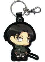 Attack On Titan - Sd Levi Pu Keychain Back Order