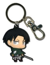 Attack On Titan - Sd Levi Pvc Keychain Pre-Order