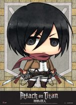 Attack On Titan - Sd Mikasa Fabric Poster Pre-Order