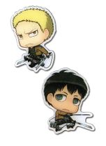Attack On Titan - Sd Reiner & Conny Metal Pins Pre-Order