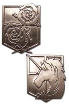 Attack On Titan - Stationary Guard & Military Police Emblem Pins Pre-Order