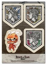 Attack On Titan - Walls & Red Titan Sd Sticker Set Pre-Order