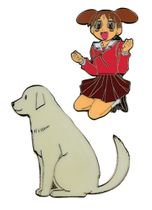 Azumanga Daioh Chiyo & Dog Pin Set RETIRED