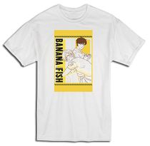 Banana Fish - Ash & Eiji Yellow Art Men's T-Shirt 2XL Pre-Order