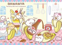 Bananya - Tea Time Wall Scroll Pre-Order